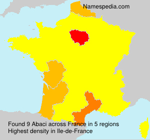 Surname Abaci in France