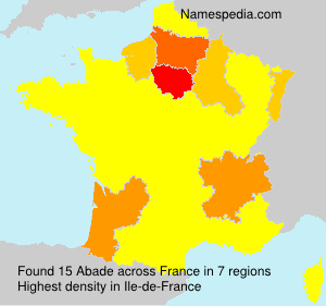 Surname Abade in France