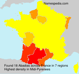 Surname Abadias in France