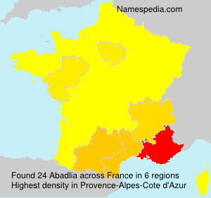 Surname Abadlia in France