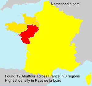 Surname Abaffour in France