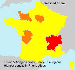 Surname Abaglo in France