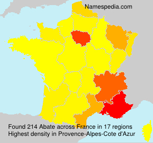 Surname Abate in France
