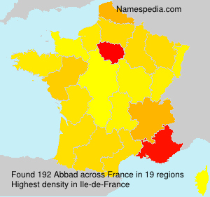 Surname Abbad in France