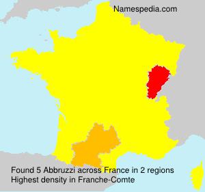 Familiennamen Abbruzzi - France