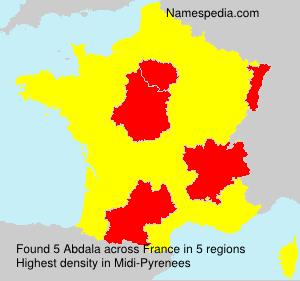 Surname Abdala In France