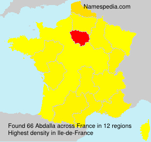 Surname Abdalla in France