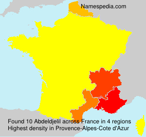 Surname Abdeldjelil in France