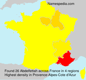 Surname Abdelfettah in France