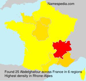 Surname Abdelghafour in France
