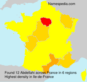 Surname Abdellahi in France