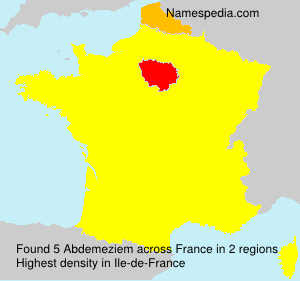 Surname Abdemeziem in France