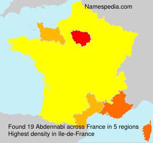 Surname Abdennabi in France