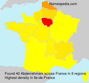 Surname Abderrahmani in France