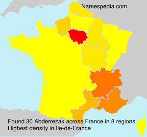 Surname Abderrezak in France