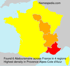 Surname Abdouramane in France