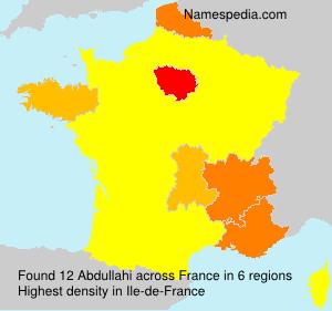 Familiennamen Abdullahi - France