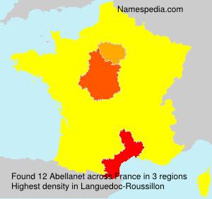 Familiennamen Abellanet - France