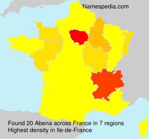 Surname Abena in France