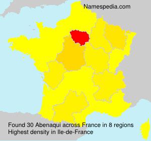 Familiennamen Abenaqui - France