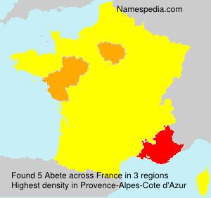 Familiennamen Abete - France
