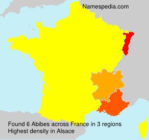 Familiennamen Abibes - France
