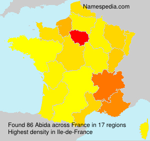 Surname Abida in France