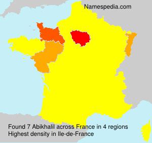 Surname Abikhalil in France