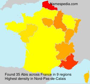 Familiennamen Abis - France
