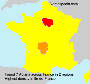 Surname Ablana in France