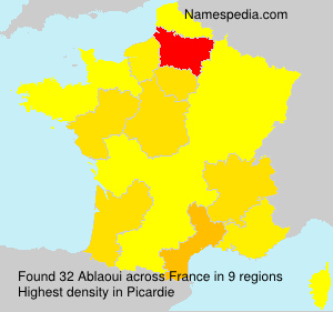 Surname Ablaoui in France