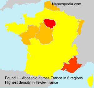 Surname Abossolo in France
