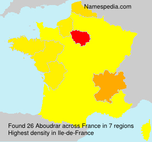 Familiennamen Aboudrar - France