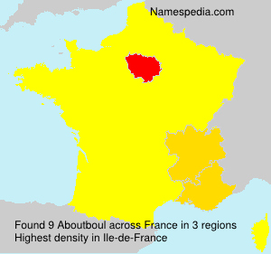 Surname Aboutboul in France