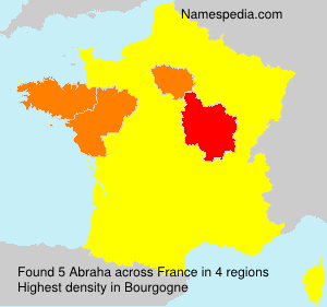 Surname Abraha in France