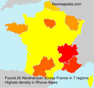 Surname Abrahamyan in France