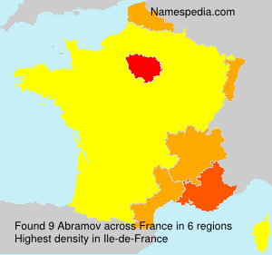 Surname Abramov in France