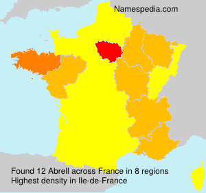 Surname Abrell in France