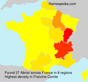 Surname Abriel in France