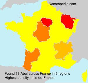 Familiennamen Abul - France