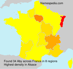 Surname Aby in France