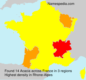 Surname Acacia in France