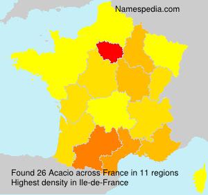 Surname Acacio in France