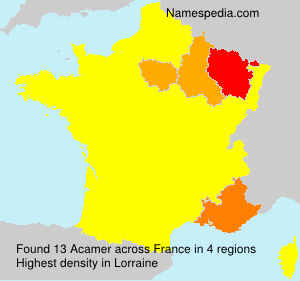 Surname Acamer in France