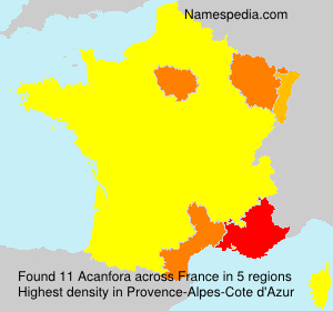 Surname Acanfora in France