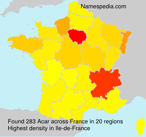 Surname Acar in France
