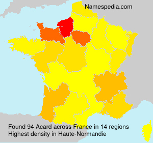 Surname Acard in France