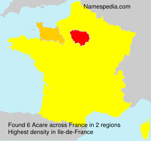 Familiennamen Acare - France