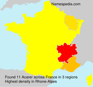 Surname Acarer in France