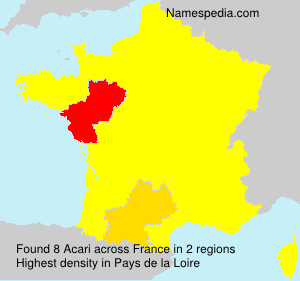 Surname Acari in France